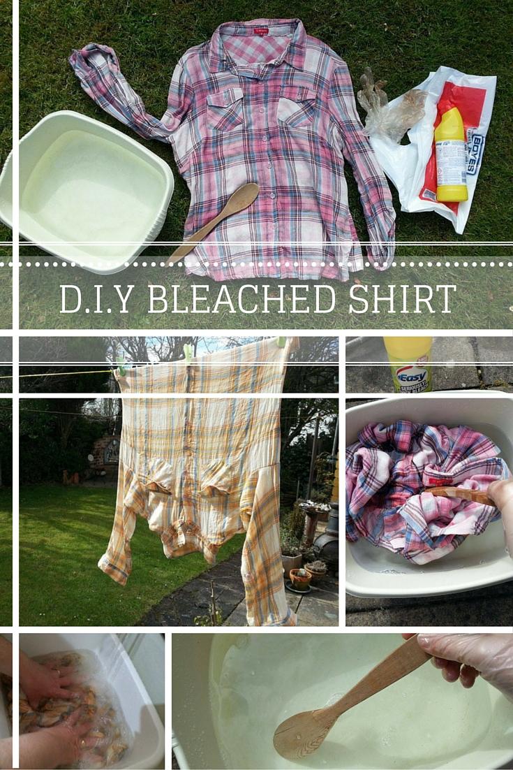DIY Bleached Shirt at HeyPreston.co.uk